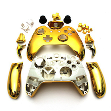 10 Kit Gold Chrome Full Housing Shell Wireless Game Controller Case with buttons for Xbox One 3.5mm headset jack