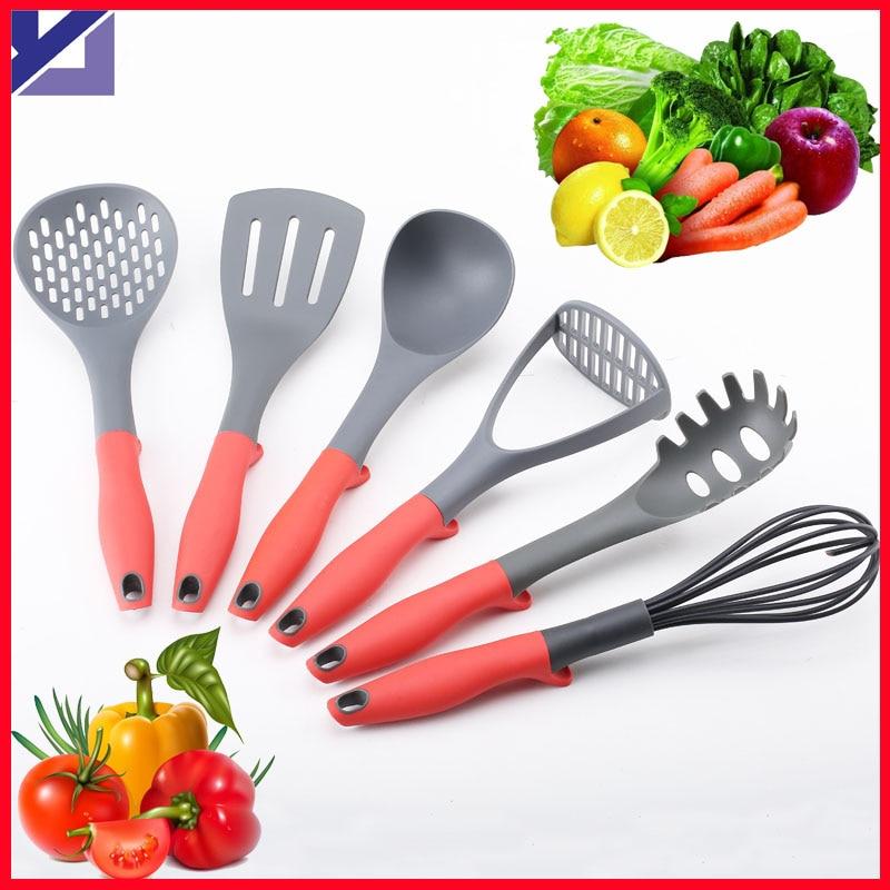 Kitchen utensils 6pcs nylon kitchen tools set spader rice for Kitchen tool set of 6pcs sj