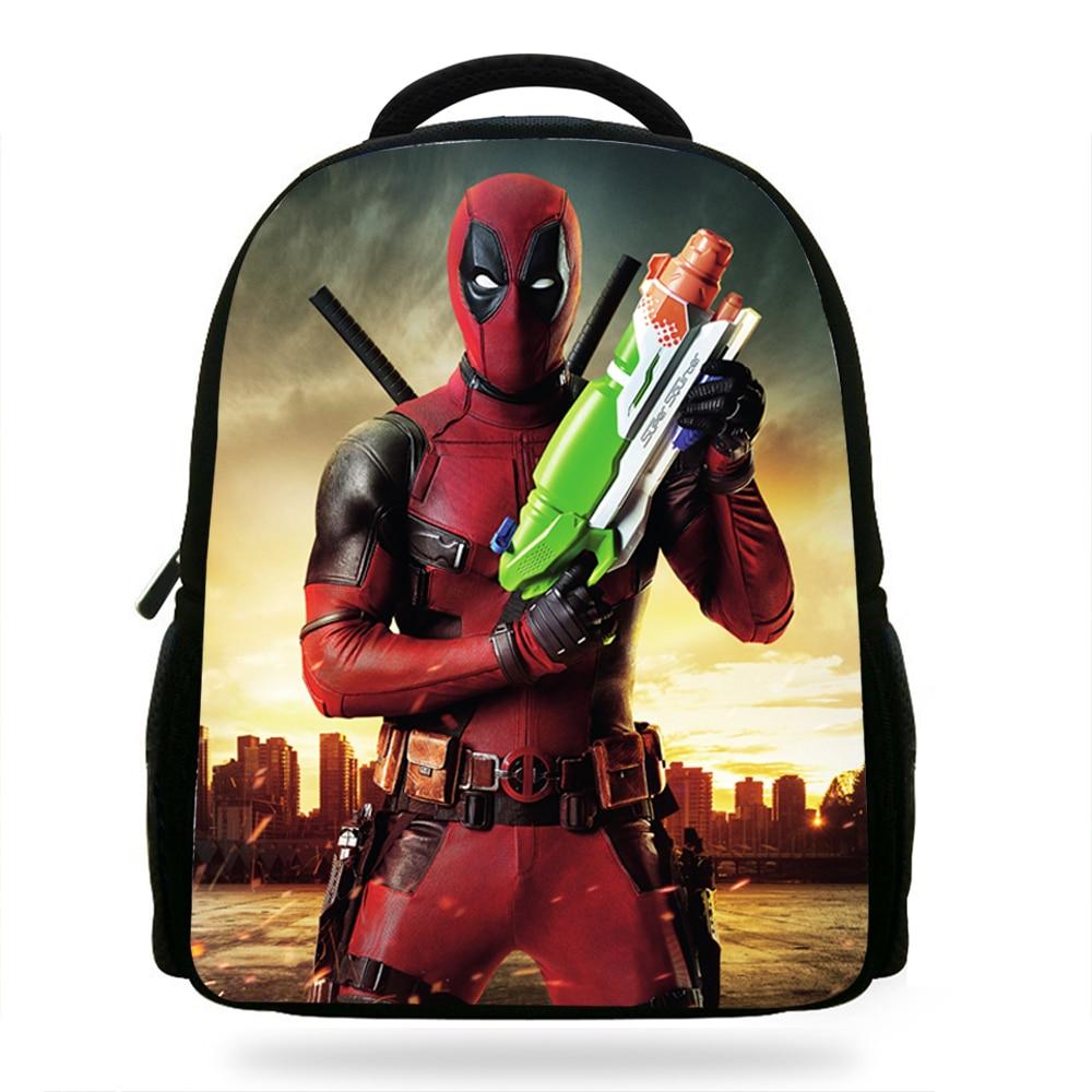 Us 1825 17 Off14inch Cool Deadpool Bag Children School Bag For Boys Gift Backpack The Avengers Bookbag For Girls Travel Bag In School Bags From