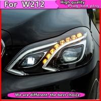 Автомобиль Стайлинг для E класс E180 E200 E260 E300 светодиодный фара 2014 2016 для W212 головного света с ксеноновые объектив DRL