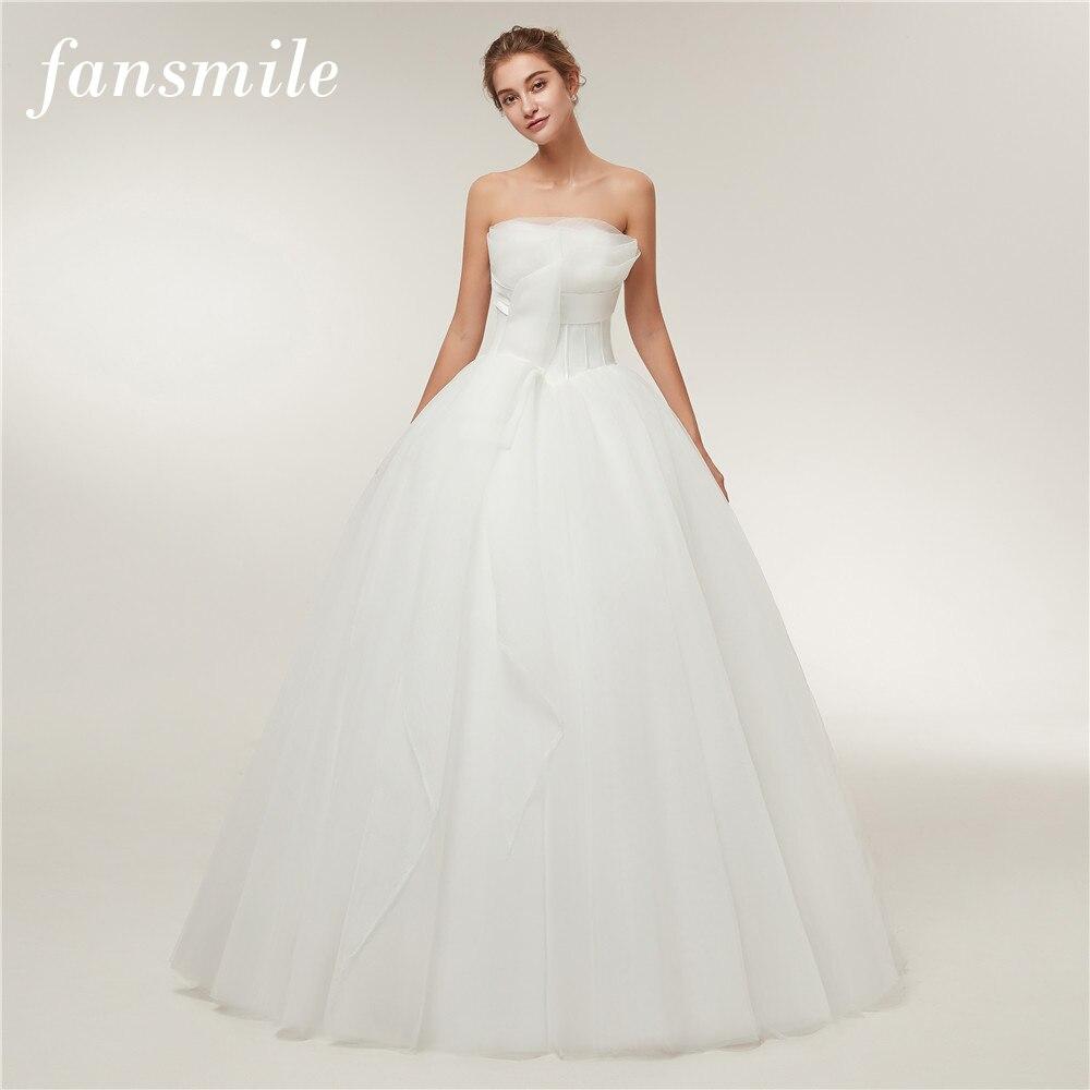 Fansmile New Arrival Vestido De Noiva Simple Wedding Dress