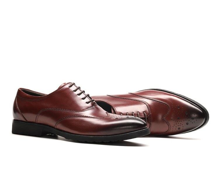 Fiesta Lujo Cuero Negro Para Italiano Hombres Zapatos marrón Negro Bullock Qyfcioufu Negocios Vestido Boda Hombre Marrón De La Genuino Marca wpZWx5vBUn