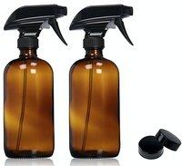 16 oz Hervulbare Lege Amber Blauw Clear Glas Trigger Spray Flessen voor Essentiële Oliën Reinigingsproducten Aromatherapie 2 stks P105