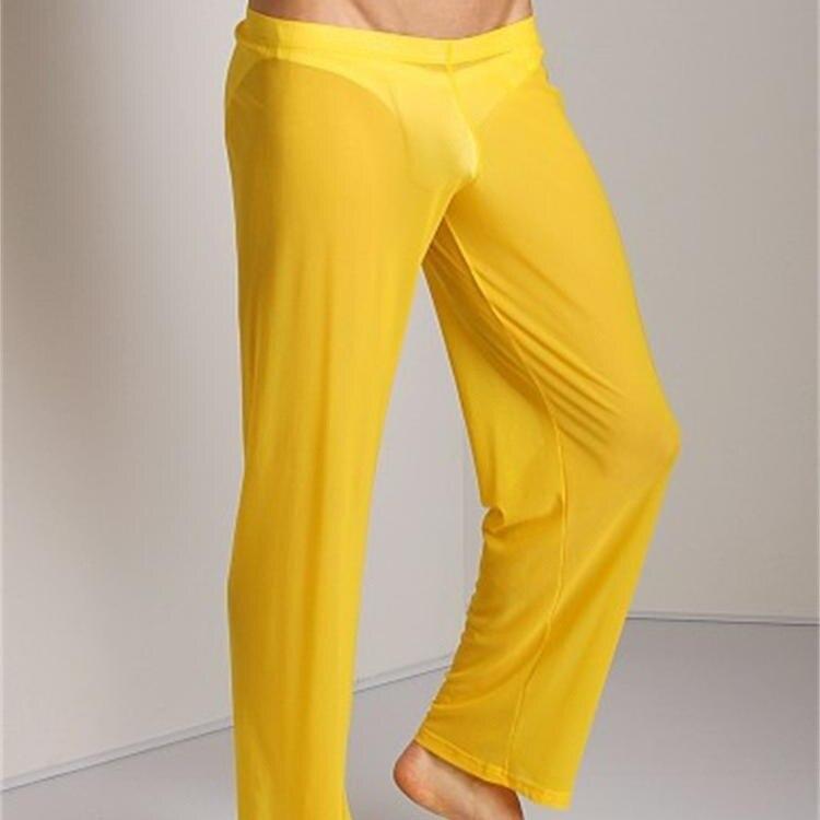 Men Transparent Loose Mesh Lounge Pants Loose-fitting Pants Pyjama Trouser Sleep Pant Erotic Lingerie FX1016