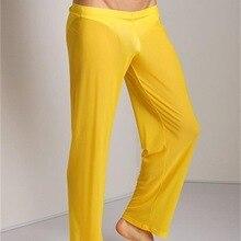 Men Transparent Loose Mesh Lounge Pants Loose-fitting Pants Pyjama Trouser Sleep Pant
