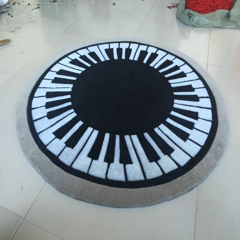 Акриловые круговой фортепиано ковер alfombras современный ковры ручной работы гостиной Спальня модные креативные Кофе столик диван Tapete