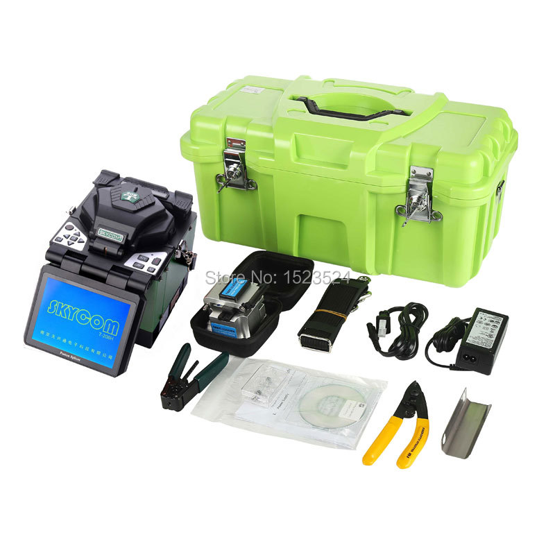 Free Shipping SKYCOM Multi-language T-208H Digital Optical Fiber FTTH Fusion Splicer