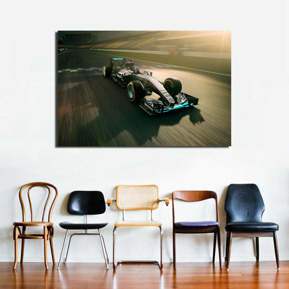 Amg Petronas F1 Araba Yarisi Posteri Tuval Boyama Dekorasyon Icin