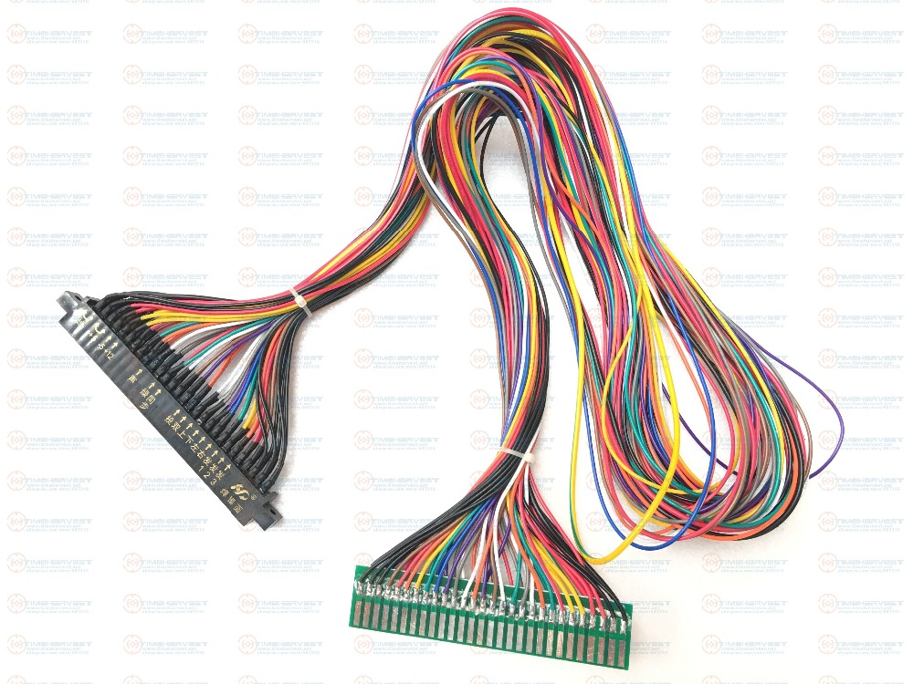 Free Shipping 100cm Jamma Harness Extender Full Wiring Extended Wires Cable Accessories Parts For Arcade Game Coin Machine Cab