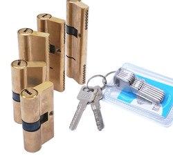 Cylinder drzwiowy stronniczy zamek 65 70 80 90 115mm Cylinder AB klucz antykradzieżowy wejście mosiężny zamek drzwi wydłużony rdzeń rozszerzone klucze