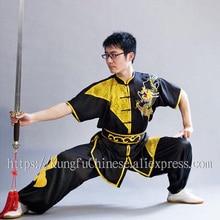 Chinese wushu uniform Kungfu clothing Martial arts sui taolu costume embroidery for men women boy children girl kids adults