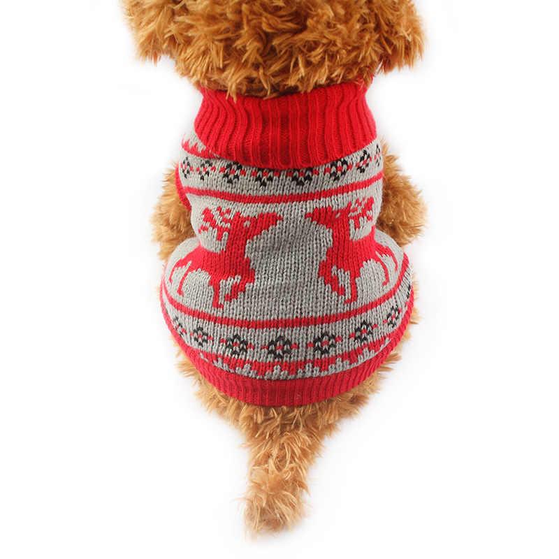 Арми магазин осень/зима Рождество олень узор собака свитер праздничные свитера для товары собак 6091002 одежда для домашних животных 5 Размеры