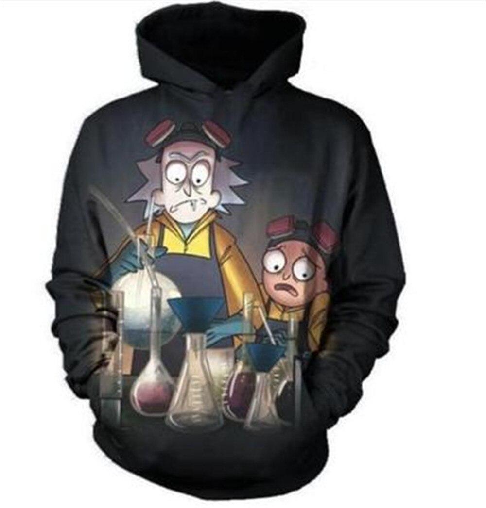 Rick and Morty cosplay costumes 3D Print unisex sweatshirt hoodies with big pocket Scientist Rick men/women clothing Xmas gift