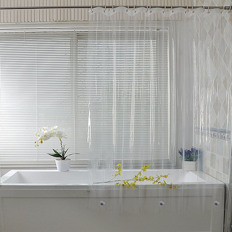 Modelo No Transparent Shower Curtain