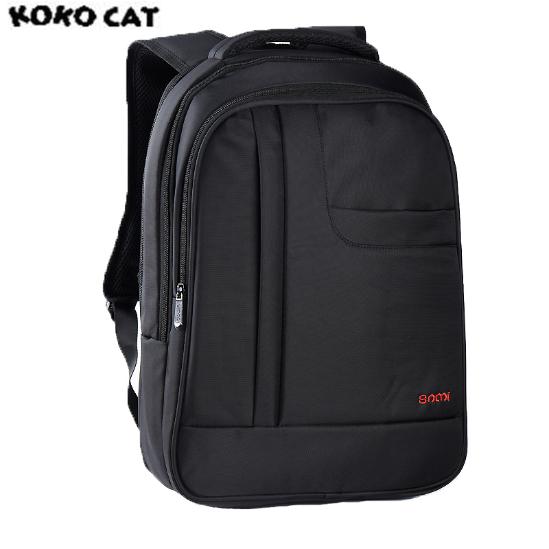 SAMI KOKOCAT 17 Inch Casual Man Laptop Backpack Men's Waterproof Large Capacity Backpack for Women Black School Bags In Stock large capacity casual man backpack