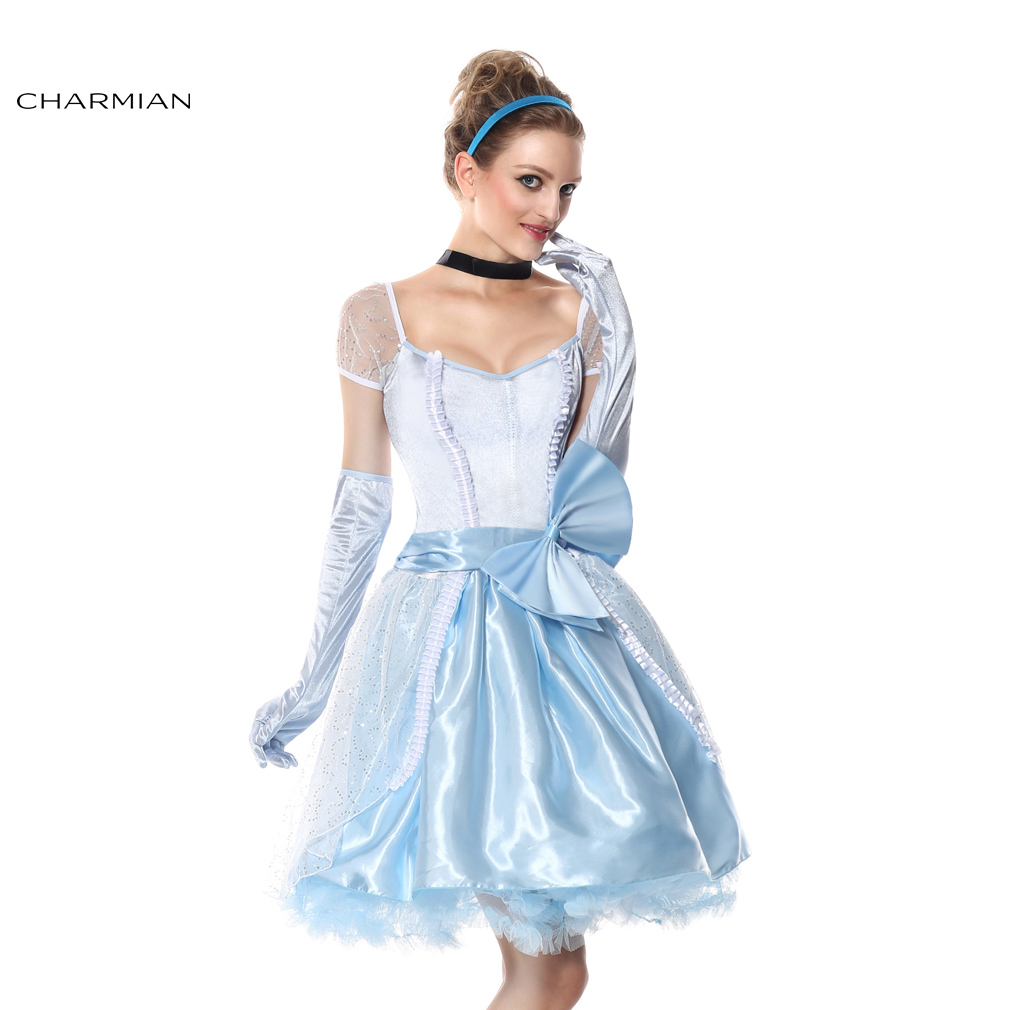 Online Get Cheap Cinderella Halloween Costumes for Women ...