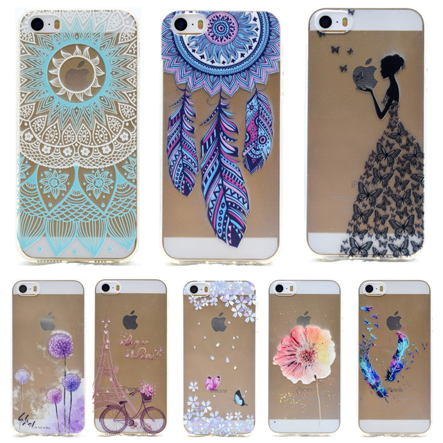 5685b372062 Soft TPU Patterns Case For Capa iPhone 5s 5 case For Funda Apple iPhone 5 5S