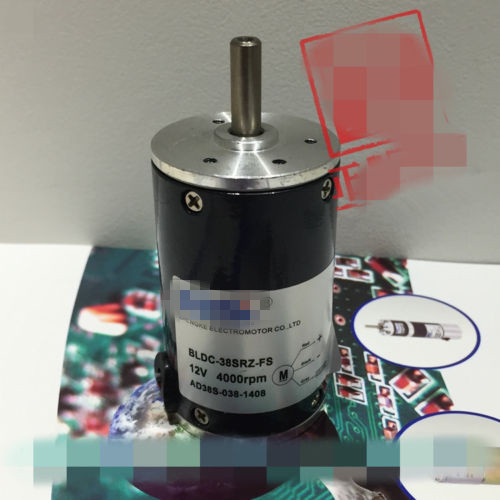 Brushless Motor BLDC-38SRZ-FS Fixed Speed Internal Drive DC 12V 24V 3 Wire 2000RPM-10000RPM free shipping 24v dc mig welding wire feeder motor single drive 1pcs