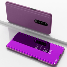 For OPPO R17 Pro Case Luxury Smart Mirror View Leather Flip Shell Stand Cover Phone Coque R17+