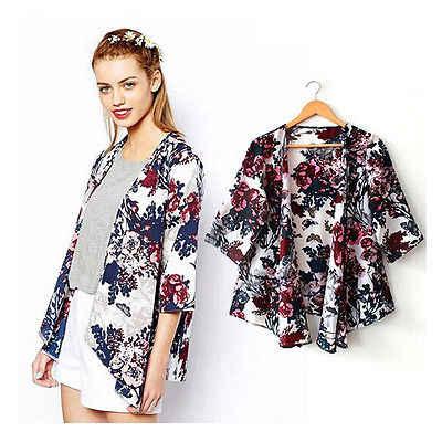 d42ff0cfc896cb New Summer Women Kimono Boho Cardigan Fashion Ladies Chiffon Shirt Floral  Print Blouse camisas femininas Loose