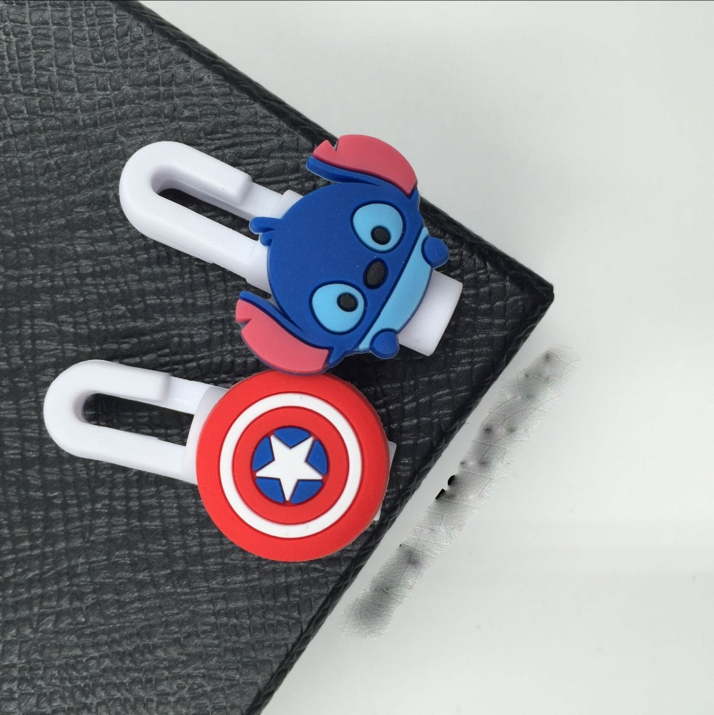 100pcs/lot Cartoon USB 100pcs/lot Cable Earphone Protector headphones line saver cable winder cord holder data cable protection