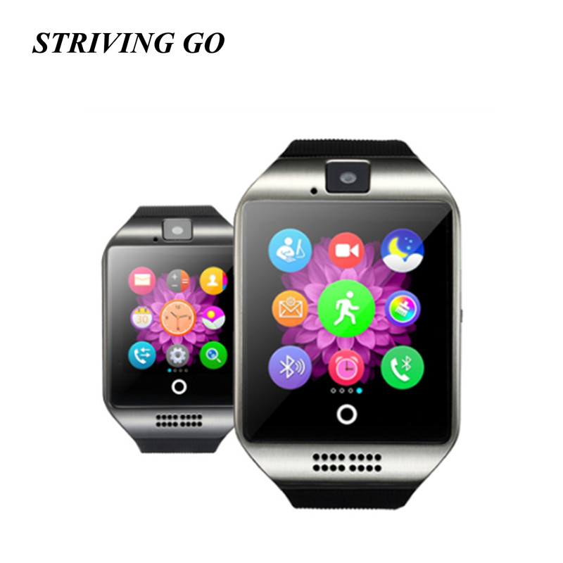 Bluetooth Smart Watch Q18 With Camera Facebook Whatsapp Twitter Sync Smartwatch Support SIM TF Card For IOS Android PK U8 DZ09