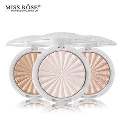 Miss Rose brillo Kit maquillaje destacador polvo brillante resaltador paleta Base iluminador resaltar la cara contorno bronceador dorado