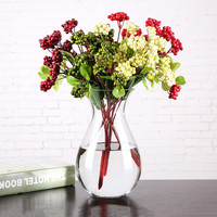 Modern minimalist Glass bottles Add lily rose flower vase Wedding hotel home Glassware Decoration