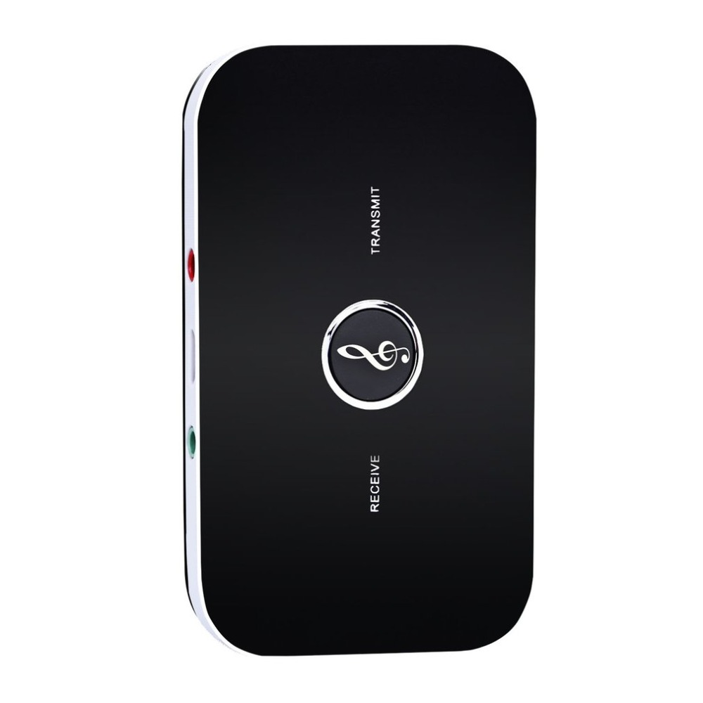 V-B6 Bluetooth Wireless 2 in 1 Receiver and Transmitter Adapter Audio Input Interface Noise Cancellation For Mobile Phone