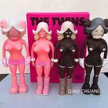 40 CM KAWS REAS BFF OriginalFake TWINS MONO Brian Street Art Brown.Pink Åtgärd Figur Collectible Model Medicom Toy S171
