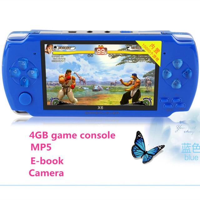 2016 newes 4 GB 4.3 pulgadas de Pantalla LCD MP4 MP5 Jugadores Juegos de video Consola de Juegos Portátil envío 2000 + juegos ebook/FM/1.3 MP cámara