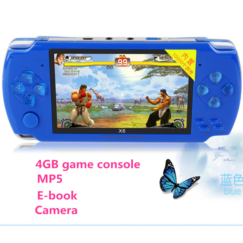 2016 newes 4GB 4.3 inch LCD Screen MP4 MP5 Players video Games Console Handheld Game free 2000+ games ebook/FM/1.3 MP Camera
