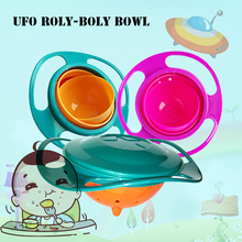 UFO Roly-poly Bowl 360 Rotate Spill-Proof Practical Design Children Rotary Balance Novelty Gyro Umbrella