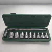 10 PCs Socket Wrench 8 14mm ,17mm,19mm,22mm,24mm Telescoping Lug Wrench Spanner Set Car Bike Repair Tools
