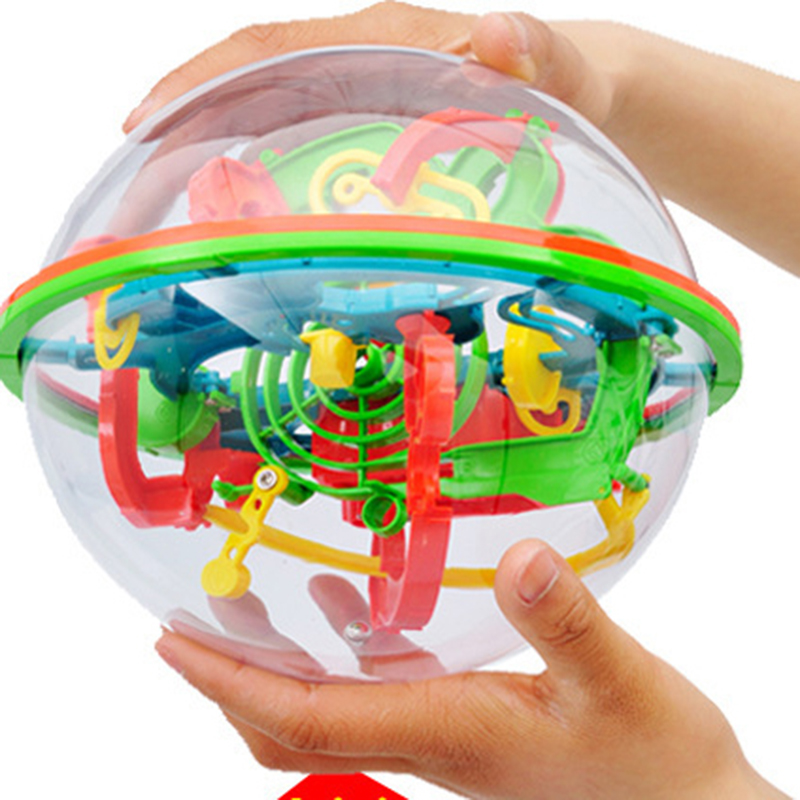 100 Levels 3D Magic Maze Ball Intellect Ball Puzzle Game Brain Teaser Orbit Game Children's Educational Toys Chtistmas Gift 3d magic coin maze ball intellect ball saving pot money box children educational toy orbit intelligence christmas new year gift