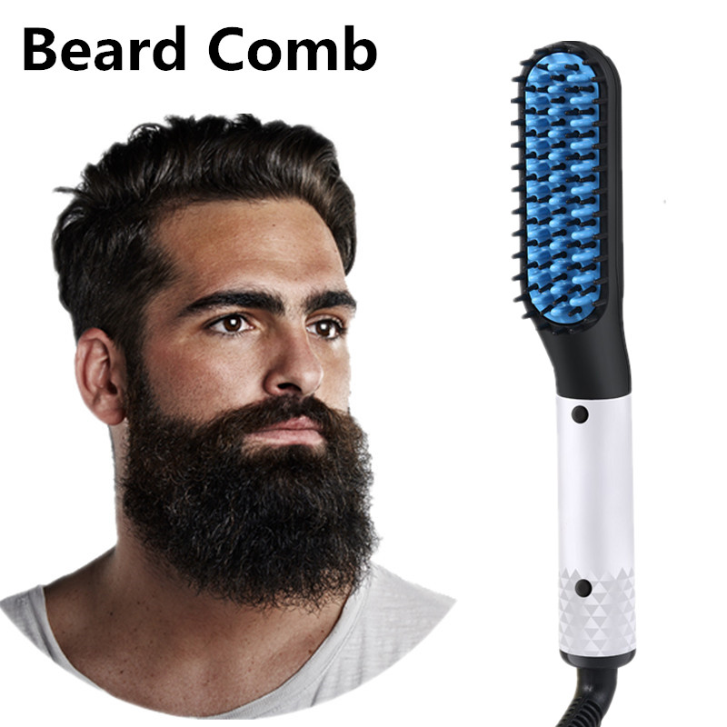 Men's Hair Straighteners Styling Comb Quick Beard Ionic Electric Straightener Multifunctional Styler Brush Beard Comb Hair Tool.
