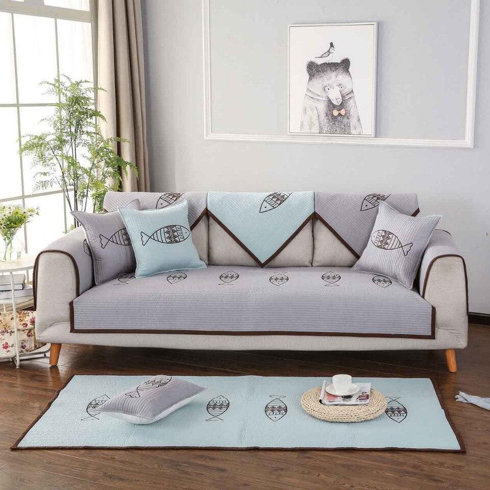 Divano Velluto Blu Ikea pesce di lusso caldo cotone copridivano per la casa