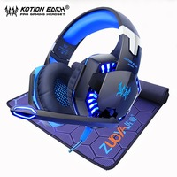 Gaming Headset Earphone Gamer Headphones Stereo with microphone +Gaming Mouse pad mousepad Mat Locking Edge Natural Rubber