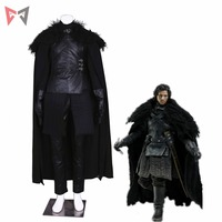 MMGG Game of Thrones 7 cosplay Jon Snow Cosplay Costume leather vest long coat pants leather gloves set custom made size