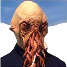 Top Grade Latex Doctor who Wode Star disguise Halloween Octopus Mask masquerade mask party carnival Cosplay octopus toy