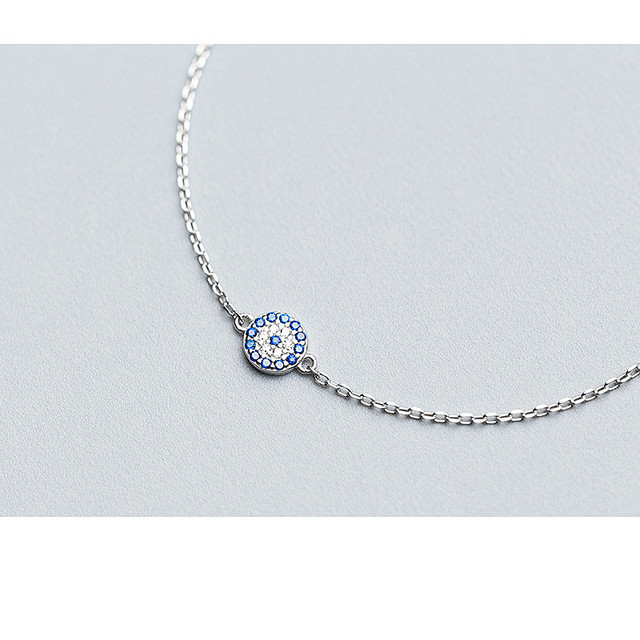 925 Sterling Silver Talisman Blue Eyes Bracelet