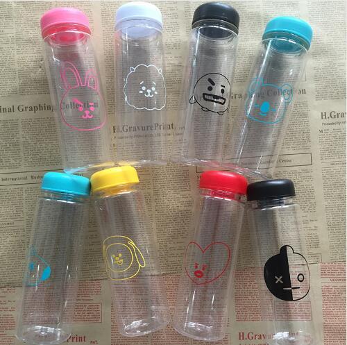[MYKPOP]BTS BT21 MY BOTTLE Water Summer Bottle K-POP Cartoon Q Freshness Letter Clear Lemon Cup 500ml SA18060317 [mykpop]bts bt21 my bottle water bottle k pop fashion fans gift sa18060318