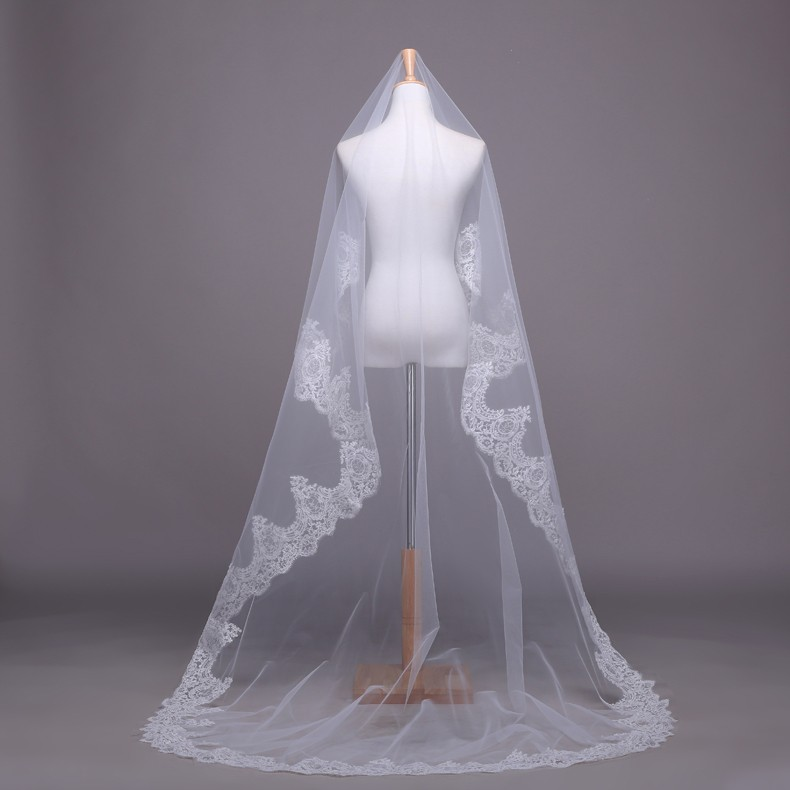 White-Ivory-Lace-Wedding-Veil-Bridal-Veil-2-5-Meters-Cathedral-Long-Wedding-Veils-Veu-De (2)