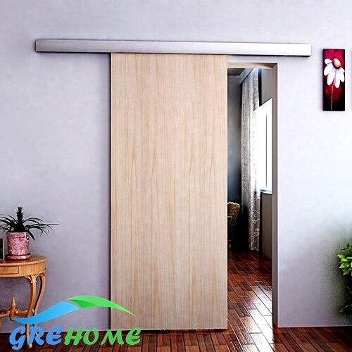 6.6 футов Алюминиевый сплав раздвижные Barn деревянные двери оборудования