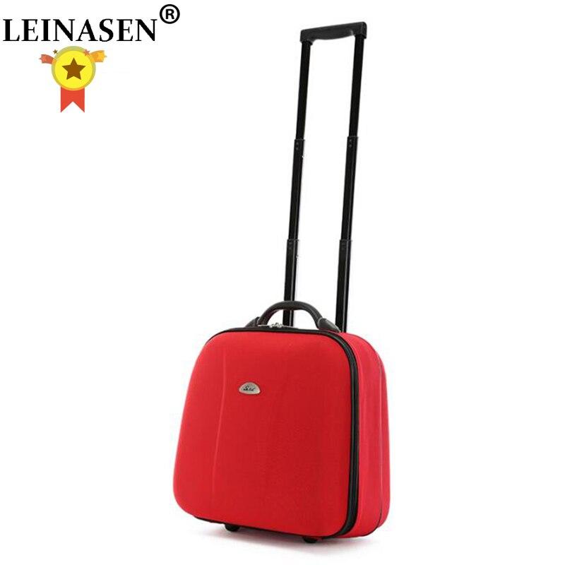 17 Polegada Mulheres Saco Da Bagagem de Cabine sobre rodas com rodas De Rolamento Saco sacos Do Trole bolsa De Viagem de Negócios Para os homens carregam em bagagem mala