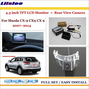 "For Mazda CX-9 CX9 CX 9 2007~2014 Car 4.3"" LCD Screen Monitor & Rearview Camera 2 in 1 Parking Assistance System"