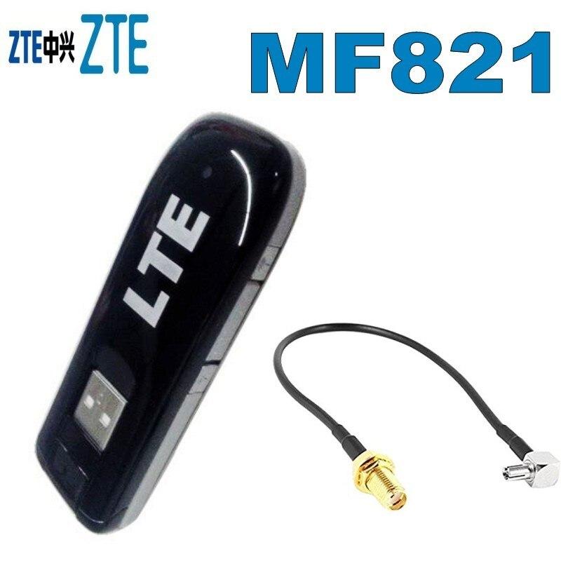 Original Unlocked ZTE MF821 100Mbps 4G LTE USB Modem FDD 1800/2100/2600MHz 42M 3G UMTS USB Mobile Broadban External Antenna