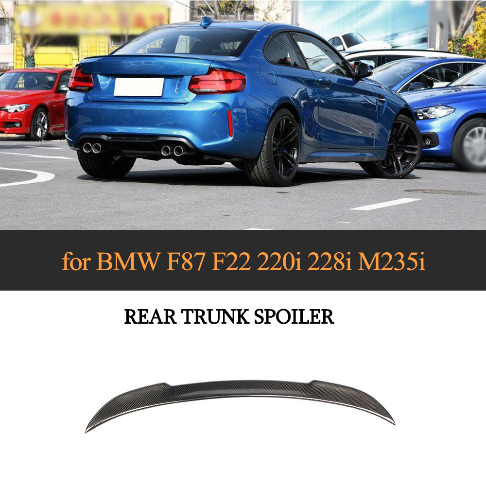 Carbon Fiber For BMW F22 2-Series Performance P Type Rear Trunk Lip Spoiler Wing