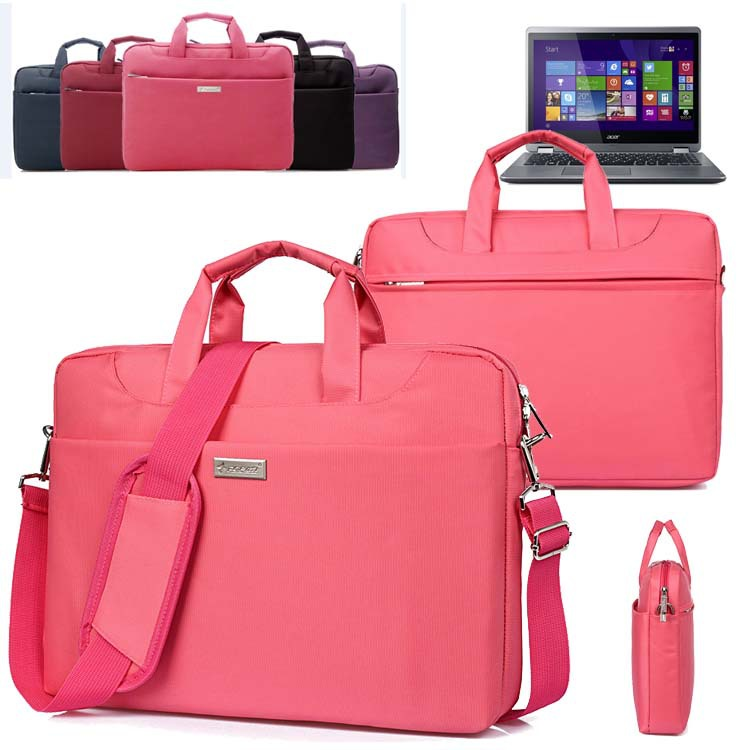 14'' Nylon Men Women Lady Laptop Shoulder Bag Handle Carrying Case Tote Briefcase Messenger for Acer Aspire R14/ E 14 E5/ R 14