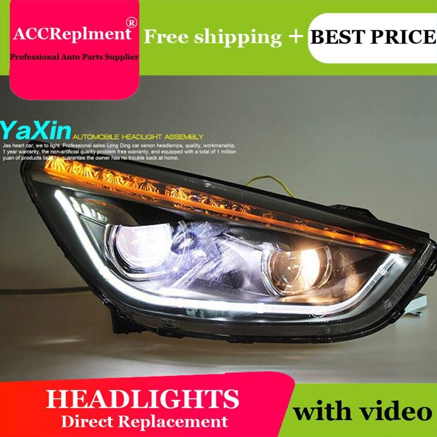 AUTO PRO 2010-2013 pour Hyundai ix35 phares feux de circulation diurne LED voiture style H7 xénon HID kit phares Q5 bi xénon lentille parking